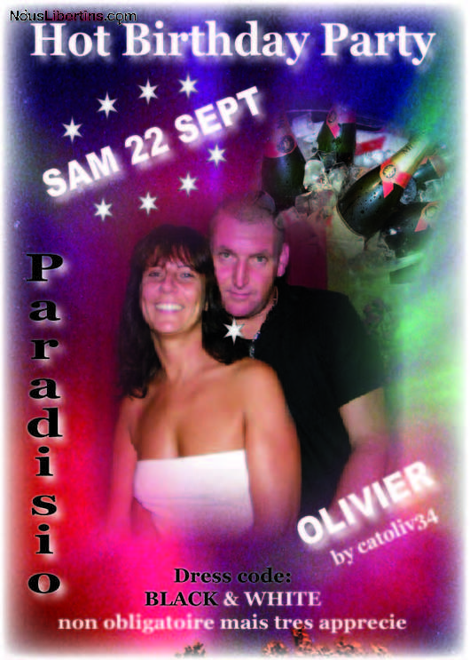 Soirée BIRTHDAY PARTY LIBERTIN - Le Paradisio - Fabrègues