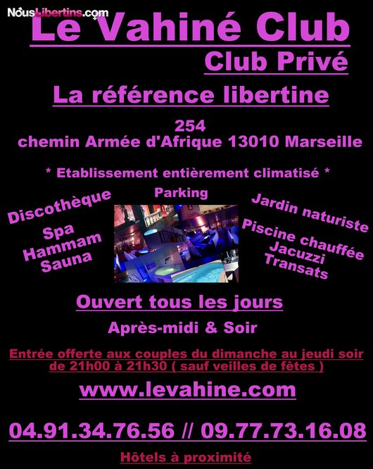 Soire Le Vahin Club - Le Vahin - Marseille