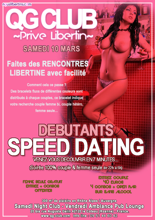 Soirée SPEED DATING - QG Club - Le Coteau