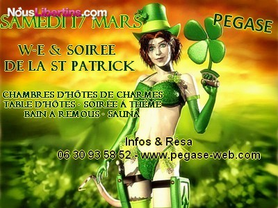 Soire Week-end de la Saint-Patrick -  Balno  PEGASE - Pgase - Lorgues