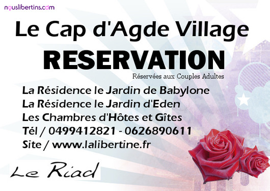 Riad Cap d&#x27;Agde - Club libertin et changiste - Agde
